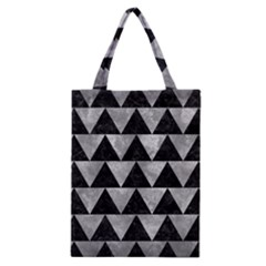 Triangle2 Black Marble & Gray Metal 2 Classic Tote Bag by trendistuff
