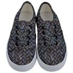 Brick2 Black Marble & Gray Stone (r) Kids  Classic Low Top Sneakers