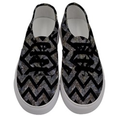 Chevron9 Black Marble & Gray Stone (r) Men s Classic Low Top Sneakers