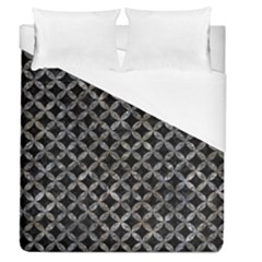 Circles3 Black Marble & Gray Stone Duvet Cover (queen Size) by trendistuff