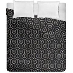 Hexagon1 Black Marble & Gray Stone Duvet Cover Double Side (california King Size)