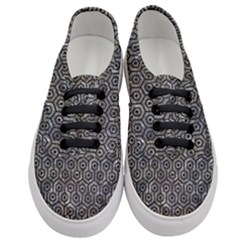 Hexagon1 Black Marble & Gray Stone (r) Women s Classic Low Top Sneakers