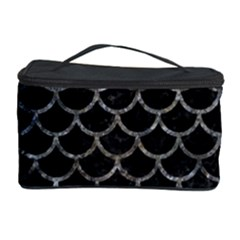 Scales1 Black Marble & Gray Stone Cosmetic Storage Case by trendistuff