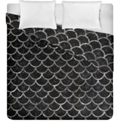 Scales1 Black Marble & Gray Stone Duvet Cover Double Side (king Size) by trendistuff