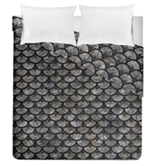 Scales3 Black Marble & Gray Stone (r) Duvet Cover Double Side (queen Size) by trendistuff