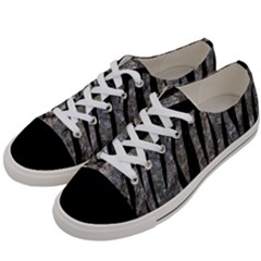 Skin3 Black Marble & Gray Stone (r) Women s Low Top Canvas Sneakers by trendistuff