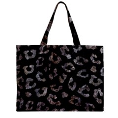 Skin5 Black Marble & Gray Stone (r) Zipper Mini Tote Bag by trendistuff