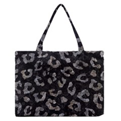Skin5 Black Marble & Gray Stone (r) Zipper Medium Tote Bag by trendistuff