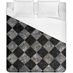 Square2 Black Marble & Gray Stone Duvet Cover (california King Size) by trendistuff
