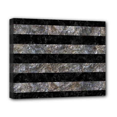 Stripes2 Black Marble & Gray Stone Deluxe Canvas 20  X 16   by trendistuff