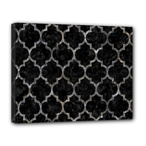 Tile1 Black Marble & Gray Stone Canvas 14  X 11  by trendistuff