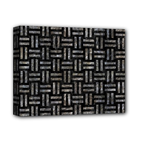 Woven1 Black Marble & Gray Stone Deluxe Canvas 14  X 11  by trendistuff