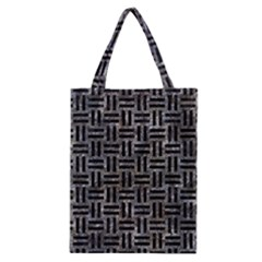 Woven1 Black Marble & Gray Stone (r) Classic Tote Bag by trendistuff
