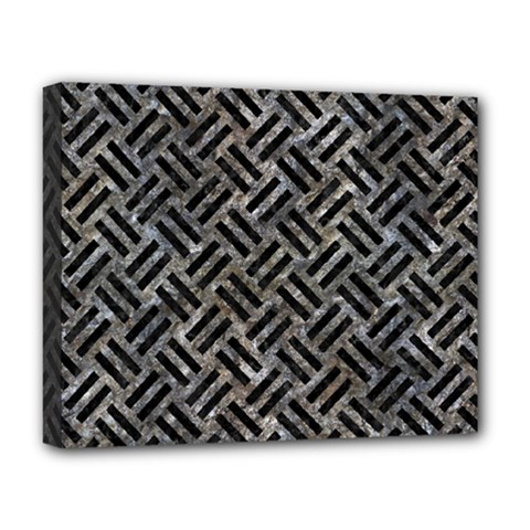 Woven2 Black Marble & Gray Stone (r) Deluxe Canvas 20  X 16   by trendistuff