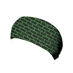 Brick1 Black Marble & Green Brushed Metal Yoga Headband