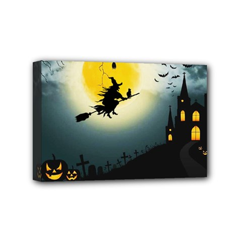 Halloween Landscape Mini Canvas 6  X 4  by Valentinaart