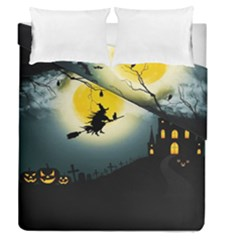 Halloween Landscape Duvet Cover Double Side (queen Size) by Valentinaart