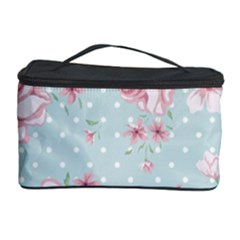 Shabby Chic,pink,roses,polka Dots Cosmetic Storage Case by 8fugoso