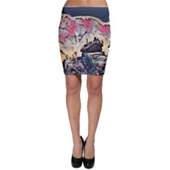 Modern Abstract Painting Bodycon Skirt by 8fugoso