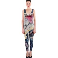 Modern Abstract Painting Onepiece Catsuit by 8fugoso