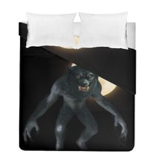 Werewolf Duvet Cover Double Side (full/ Double Size) by Valentinaart