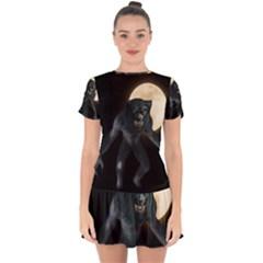 Werewolf Drop Hem Mini Chiffon Dress by Valentinaart