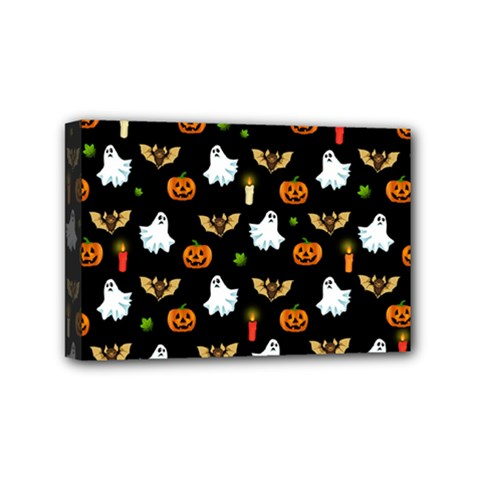 Halloween Pattern Mini Canvas 6  X 4  by Valentinaart