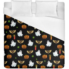 Halloween Pattern Duvet Cover (king Size) by Valentinaart