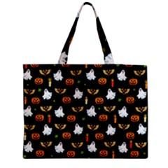 Halloween Pattern Medium Tote Bag by Valentinaart