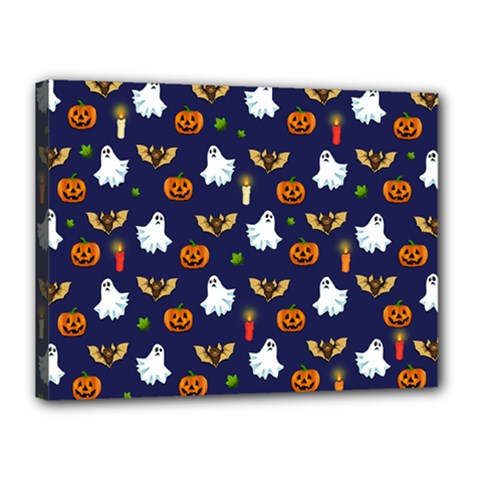 Halloween Pattern Canvas 16  X 12  by Valentinaart