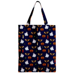 Halloween Pattern Zipper Classic Tote Bag by Valentinaart