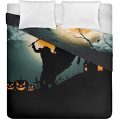 Headless Horseman Duvet Cover Double Side (king Size) by Valentinaart