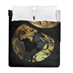 Headless Horseman Duvet Cover Double Side (full/ Double Size) by Valentinaart