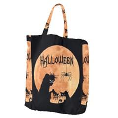 Halloween Giant Grocery Zipper Tote by Valentinaart