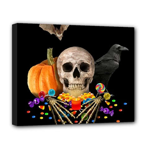 Halloween Candy Keeper Deluxe Canvas 20  X 16   by Valentinaart