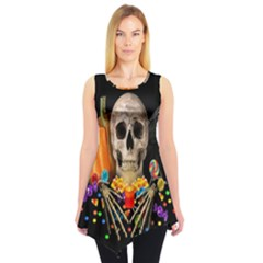 Halloween Candy Keeper Sleeveless Tunic by Valentinaart