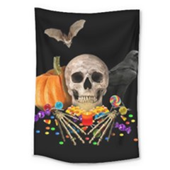 Halloween Candy Keeper Large Tapestry by Valentinaart