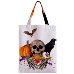 Halloween Candy Keeper Zipper Classic Tote Bag by Valentinaart