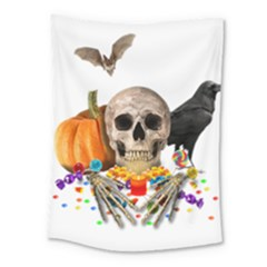 Halloween Candy Keeper Medium Tapestry by Valentinaart