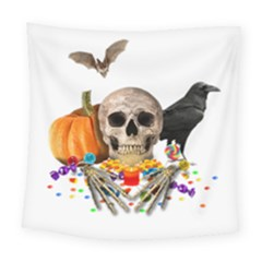 Halloween Candy Keeper Square Tapestry (large) by Valentinaart