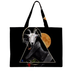 Spiritual Goat Zipper Large Tote Bag by Valentinaart