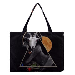 Spiritual Goat Medium Tote Bag by Valentinaart