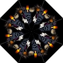 Vampires Night  Folding Umbrellas by Valentinaart