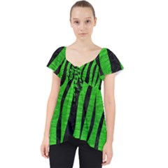 Skin3 Black Marble & Green Brushed Metal (r) Lace Front Dolly Top by trendistuff
