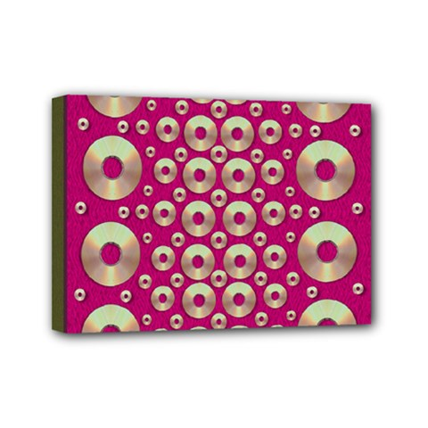 Going Gold Or Metal On Fern Pop Art Mini Canvas 7  X 5  by pepitasart
