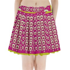 Going Gold Or Metal On Fern Pop Art Pleated Mini Skirt by pepitasart