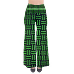 Woven1 Black Marble & Green Brushed Metal Pants by trendistuff