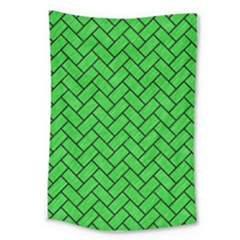 Brick2 Black Marble & Green Colored Pencil (r) Large Tapestry by trendistuff