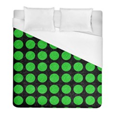 Circles1 Black Marble & Green Colored Pencil Duvet Cover (full/ Double Size) by trendistuff
