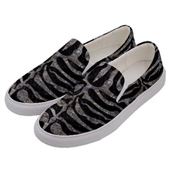 Skin2 Black Marble & Gray Stone Men s Canvas Slip Ons by trendistuff